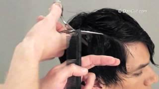 עיצוב שיער  גברים טכניקה גזירה ליצירת מראה טבעי דן קאט