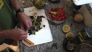 סלט חצילים עם ירקות