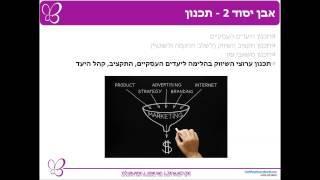 קורס שיווק באינטרנט. שיעור 1 - ארבעת אבני היסוד לשיווק באינטרנט