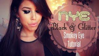 NYE Black&Glitter Smokey Eye Tutorial ♥ איפור מעושן  שחור עם נצנצנים לסילבסטר