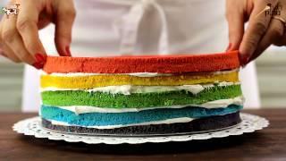 איך מכינים עוגת קשת בענן? אופים עם שוקולד פרה