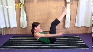 תרגילי פילאטיס- תרגיל פילאטיס לנשימה נכונה וחיזוק הבטן